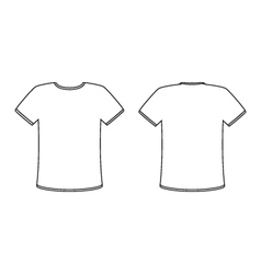 Blank front and back t-shirt design template set vector