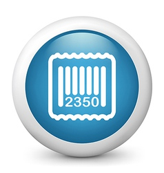 blue glossy icon vector image