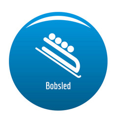 bobsled icon blue vector image