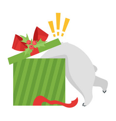 cartoon white polar bear vector image