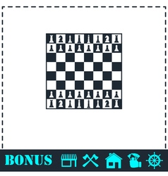 Chess icon flat vector