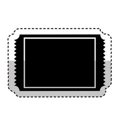 Cinema ticket isolated icon vector