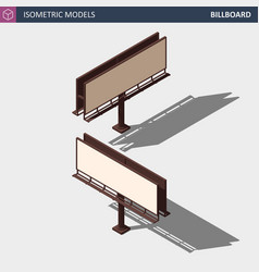 city advertise billboard - isometric vector image