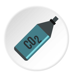 Co2 bottle icon circle vector
