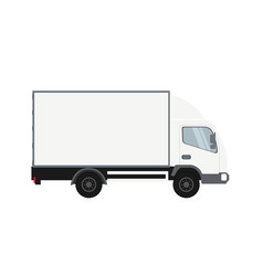 cold room truck heavy transport vehicle vector image