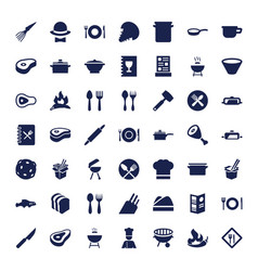 Cook icons vector
