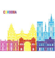 Cordoba ar skyline pop vector