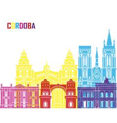 Cordoba ar skyline pop vector