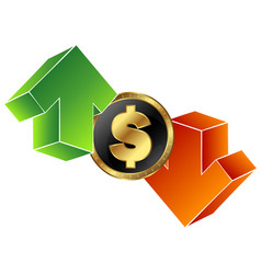 currency exchange symbol vector image