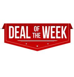 deal of the week banner design vector image