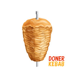 Doner kebab on pole vector