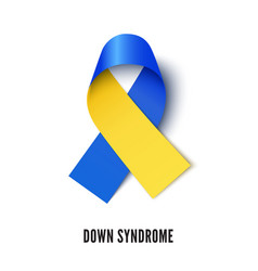 down syndrome awareness ribbon realistic vector image