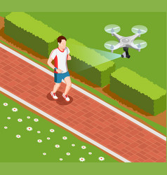 drone coaching composition vector image