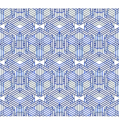Endless colorful symmetric pattern graphic design vector