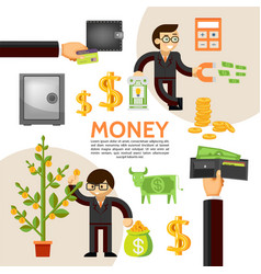 flat finance template vector image