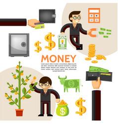flat finance template vector image