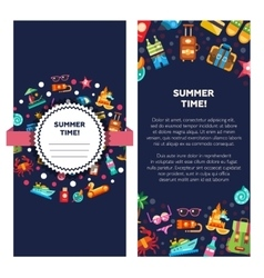 Flyer template of modern flat design seaside vector image