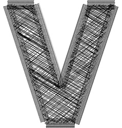 Font Letter V vector