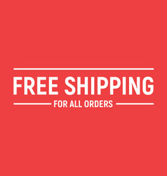 Free shipping delivery offer banner free shipping vector