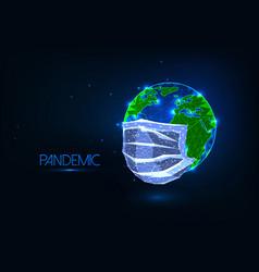 futuristic covid-19 coronavirus pandemic global vector image
