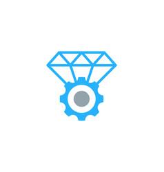 gear diamond logo icon design vector image