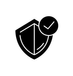 General insurance black glyph icon vector