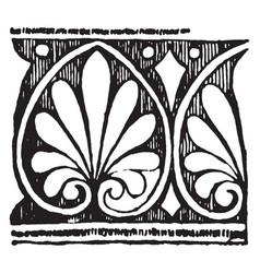 greek band design is a framed anthemions vintage vector image
