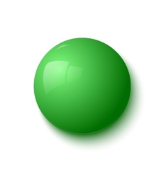 Green glossy button vector image