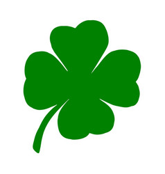green leaf clover with four vector image