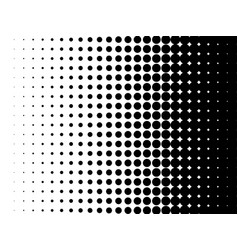 Halftone pattern dot gradient background vector