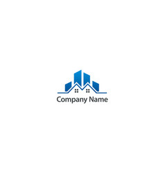 homes modern building company logo vector image