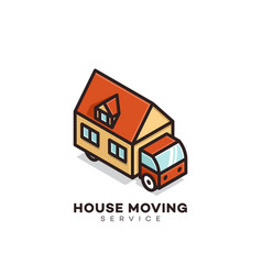 House moving service logo vector