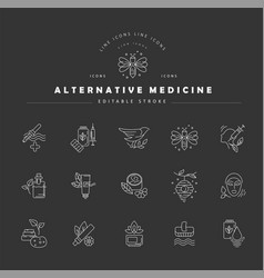 icon and logo for alternative medicine vector image