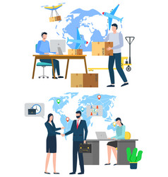 International business worldwide delivery vector