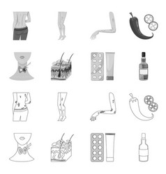 Isolated object medical and pain sign set vector
