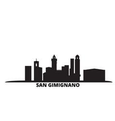italy san gimignano city city skyline isolated vector image
