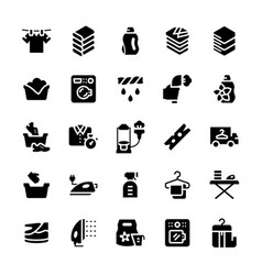 laundry service icon set in flat style vector image