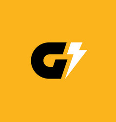 Letter g lightning logo icon design template vector