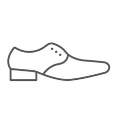 Man shoes thin line icon clothes and footwear vector