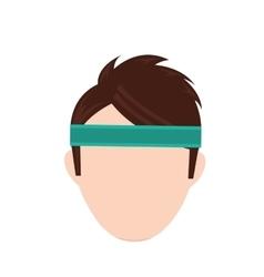 Man with sport headband vector