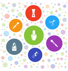 Manicure icons vector