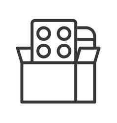 Medicine in box simple outline icon vector