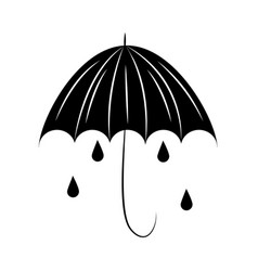 minimalist tattoo boho umbrella rain drops vector image