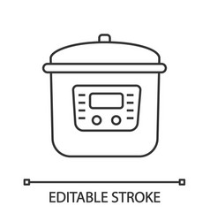 Multi cooker linear icon vector