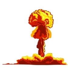 Mushroom cloud sign vector image