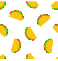 national taco day festive design seamless pattern vector image