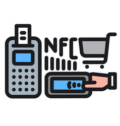 nfc icon vector image