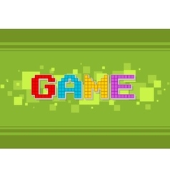 Pixel computer color game text screen vector