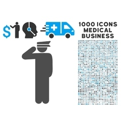 Police Officer Icon with 1000 Medical Business vector