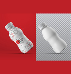 realistic mockup a white plastic small bottle vector image